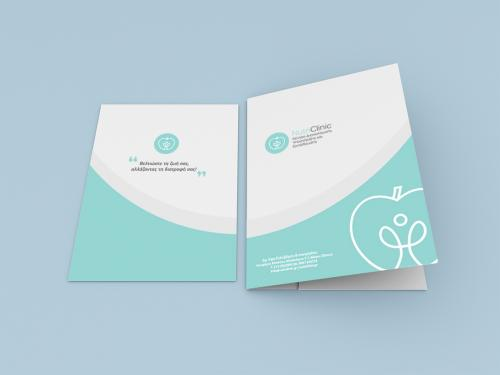 A4 paper with presentation folder mockup